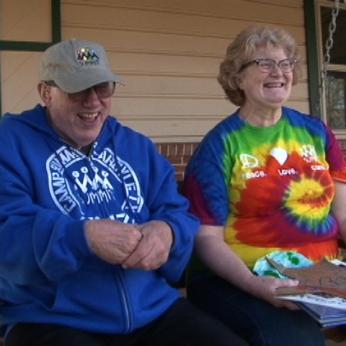 Freddy Cobb and guardian Jill Johnson-Scott, a longtime family friend