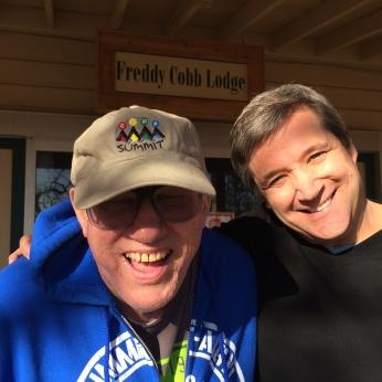 Freddy Cobb and filmmaker Brent Weber